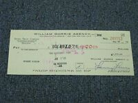 Robert Bob Gibson Signed Autographed Cancelled Check