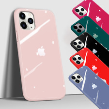 Genuine REAL GLASS Silicone Case Cover for iPhone 11, 11 Pro, 11 Pro Max