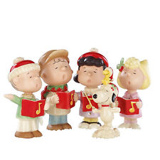 Lenox Peanuts Christmas Caroling Figurines Charlie Brown Snoopy Lucy Sally New