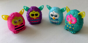 Lot of 4 McDonalds Furby Boom Happy Meal Toys (2013)