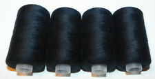 2400 Yards 100% Polyester All-Purpose Black Sewing Thread - 4 Pack - Ships Free