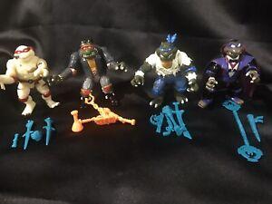 TMNT Universal Monsters FRANKENSTEIN MUMMY DRACULA and WOLF MAN W accessories