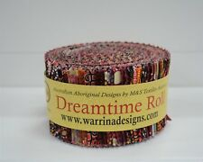 """2.5"""" Aboriginal Jelly Roll Dreamtime Roll Indigenous Quilting Patch Theme Red 40"""