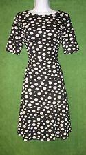 Anne Klein Black White Dot Crochet Fit&Flare Work Social Cocktail Dress 12 $129