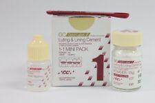 GC Fuji 1 Luting & Lining Cement Dental Glass Ionomer Light Yellow Radiopaque