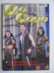 Da Capo Das Magazin 41 Musical Magazin Zeitschrift Musical Aida Tarzan Evita u.a