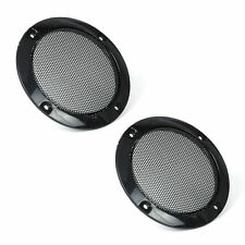 """2PCS 3"""" inch Speaker Decorative Circle With Protective Black Iron Grille Mesh"""