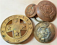 PRE FEDERATION AUSTRALIAN ARMY PART BADGE & BUTTONS LOT