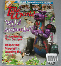 Tole World Magazine August 2004 Wild About Animals! Featuring 35 Animal Designs