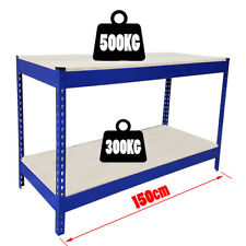 500kg Heavy Duty Metal Work Bench Garage Workshop Table Workbench Station UKED