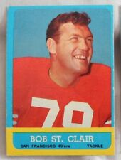 1963 Topps Bob St Clair 49ers #140 Football Card ex-mt