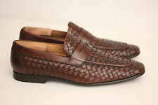 Mens Magnanni 'Reo' Woven Penny Loafer - Brown - Size 8.5 M - 14016 - $325 (B0)