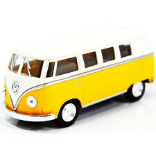 Kinsmart 1962 Volkswagen Classical Bus Diecast Car 1:32 KT5377D Cream Top Yellow