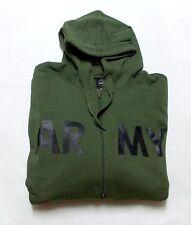 Kapuzen Sweat-Jacke ARMY Oliv Gr.  XL Kapuzenjacke Zip Hoody Grey Joggingjacke