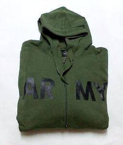 Kapuzen Sweat-Jacke ARMY Oliv Gr.  M Kapuzenjacke Zip Hoody Grey Joggingjacke