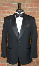 MENS 36 R BLACK 2 BUTTON PEAK TUXEDO  JACKET / PANT / SHIRT / BOW by AFTER SIX