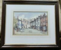 Original old Watercolour painting Northgate West Midlands? A D Houghton framed