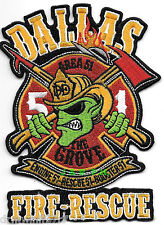 "Dallas  Station-51, TX  ""Area 51 - Grove""   (3.5"" x 5"" size) fire patch"
