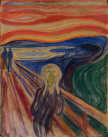EDVARD MUNCH THE SCREAM 1910 LANDSCAPE ART PRINT REPRODUCTION ON CANVAS 18x24