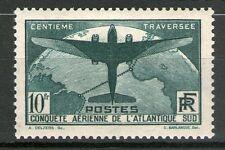 TIMBRE N° 321  NEUF ** 100 EME TRAVERSEE ATLANTIQUE SUD SIGNE CALVES