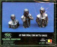 Verlinden 1:35 54mm US Tank Crew / CBR Battle Dress Resin Bust Kit #381