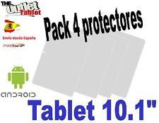 """Pack 4 Protectores Universales pantalla para Tablet de 10""""pulgadas 10.1"""" 10,1"""""""