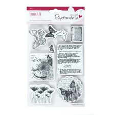 PAPERMANIA SQUARE URBAN STAMP STEAMPUNK BOTANICAL PRINT BUTTERFLIES - NEW