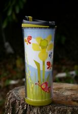 Starbucks Coffee Company 2008 16oz Travel Tumbler Spring Flower Floral Butterfly