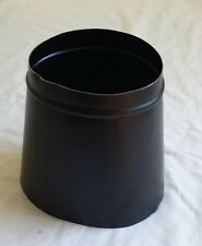 "(1) IMPERIAL BM0039 7"" X 6"" 24 GAUGE BLACK OVAL TO ROUND STOVE PIPE ADAPTER"