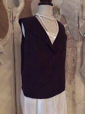 OSKA German Designer ~ 100% Pure Virgin Wool Waistcoat Jacket~Lagenlook ~Sz 4 BN