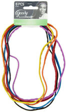 GOODY - Slide Proof Headwraps with Silicon 6 mm Bright Colors - 6 Count