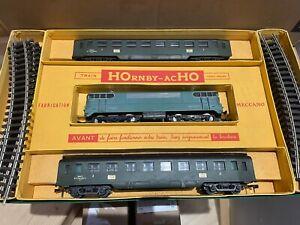 """Coffret HORNBY-ACHO Meccano train de Voyageurs """"L'AQUILON"""" PARIS-LILLE HO"""