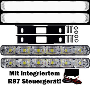 LED Tagfahrleuchten FLAT 6SMD + Steuergerät VW Passat 3C Limo Variant B5