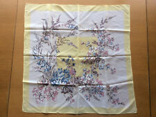 Vintage Women's Scarf Headscarf Yellow Blue Pink Purple Floral Retro 1950s 1960s