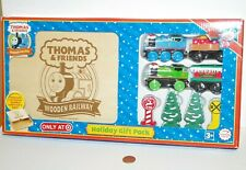 Thomas Train & Friends Tank Engine Wooden Railway Holiday Gift Pack w/ Box - NEW