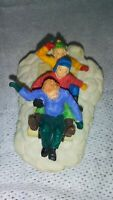 Lemax Christmas Village Kids Sledding Resin Figurine
