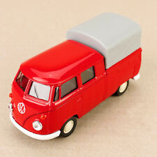 1962 Red Volkswagen VW T1 Twincab PickUp Ute Canopy Model Car Die-Cast Welly