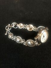 Navajo Sterling Silver Link Watchband, Includes  Watch.