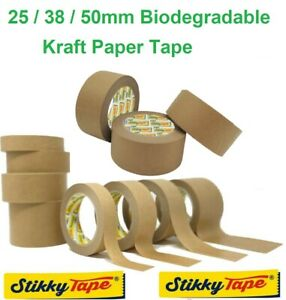 Brown Kraft Paper Packaging Parcel Tape Eco Friendly Biodegradable Recyclable