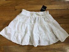 Forever 21 White Tier Eyelet Skirt Size Small NEW