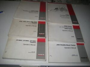 Lot of 6 Mid 2000's OEM CASE IH Tractor Operating  Manual - DX ,JX and LX Models