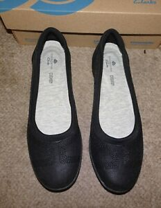 Clarks Cloudsteppers Ayla Low Black shoes 7.5 38