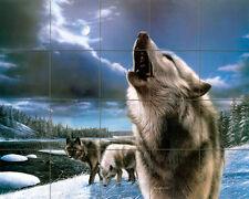 Wolf Mural Ceramic Backsplash Bath Decor Tile #339