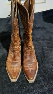 ariat brown leather boots 8B