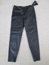 NWT Auth Saint Laurent Black Snake Embossed Leather Skinny Pants Sz 42 10 $2990