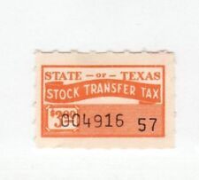 Usa Texas State Ci 00004000 nderella Revenue stamp 1-15a-10 -Mint hinge mark no remnant $3
