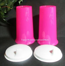 Tupperware NEW Set 2 -10 oz. Large Bell Tumbler & Sippy Seal Bright Pink White