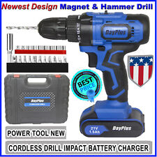21V Cordless Drill Electric Screwdriver Mini Wireless Power Driver Hammer&Magnet
