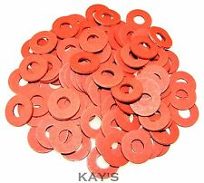 40 Pack M6 Flat Red Fibre Washer