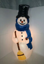 Vintage General Foam Snowman Blow Mold Lighted Yard Decor, Carrot Nose, 41� Tall